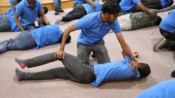 Stelco Initiated A First Aid Training With The Support Of Red Crescent Of Maldives.