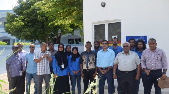 STELCO Chairman And Managing Director Visits AA Rasdhoo Powerhouse. The Current Situation Of The Powerhouse Is Assessed. Discussions Were Carried Out With The Powerhouse Staff To Enhance The Better Services.