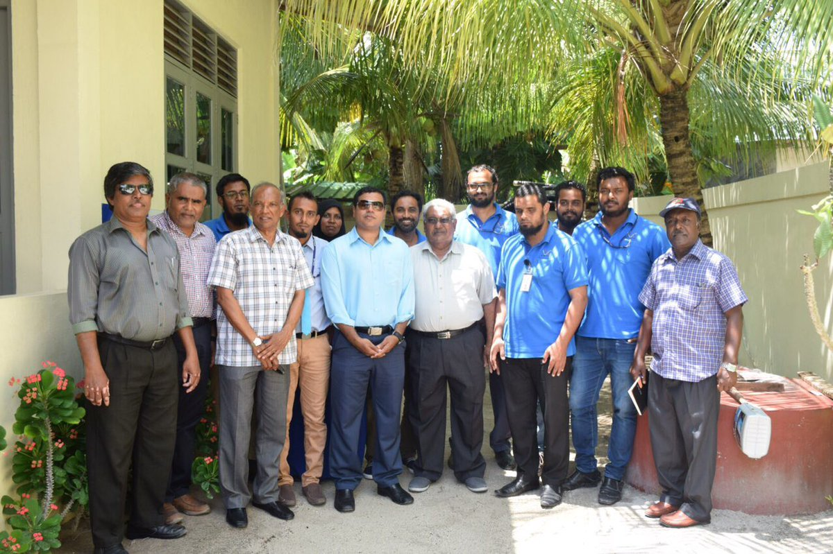 STELCO Chairman And Managing Director Visits A Dh Hangnaameedhoo Powerhouse.
