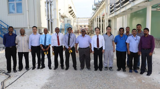 STELCO Chairman Mohamed Rasheed And Managing Director Hassan Mughnee Visiting STELCO 5th Power Project Site.