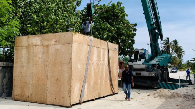 2 New Transformers Has Been Transported To K.Maafushi Power Station.